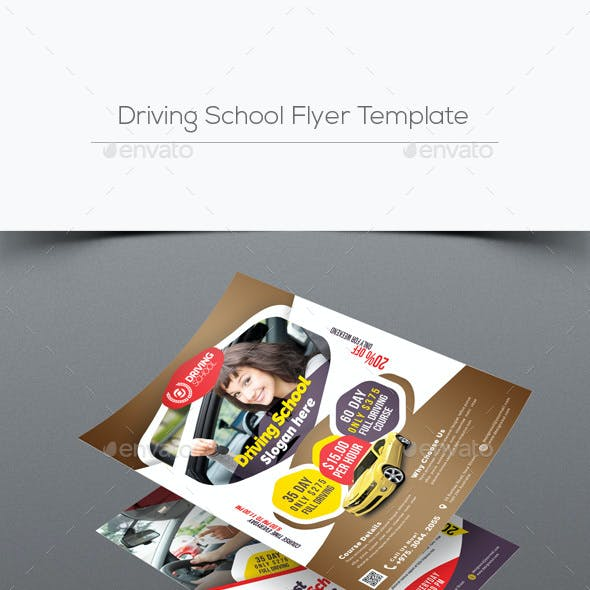 driving school graphics designs templates from graphicriver