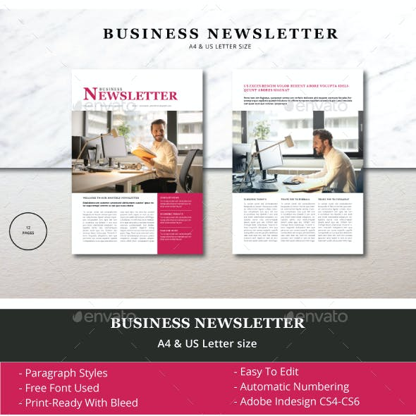 Newsletter templates from graphicriver business newsletter template flashek Image collections