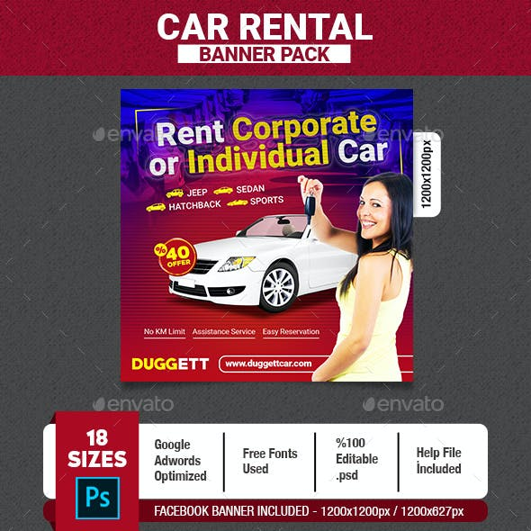 Car Rental Banner by TheThirdEyes | GraphicRiver