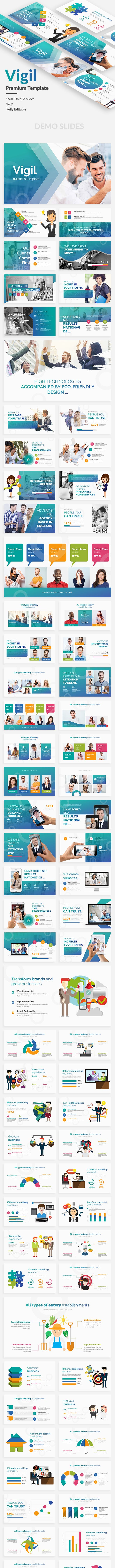 vigil business premium powerpoint template by bypaintdesign