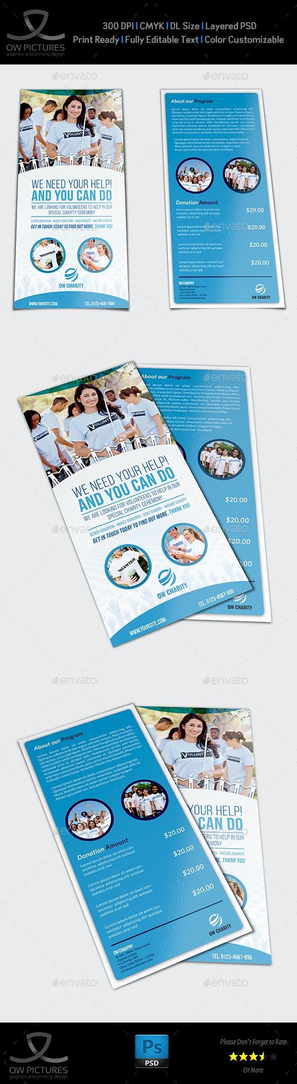 volunteer flyer template vol2 dl size flyers print templates