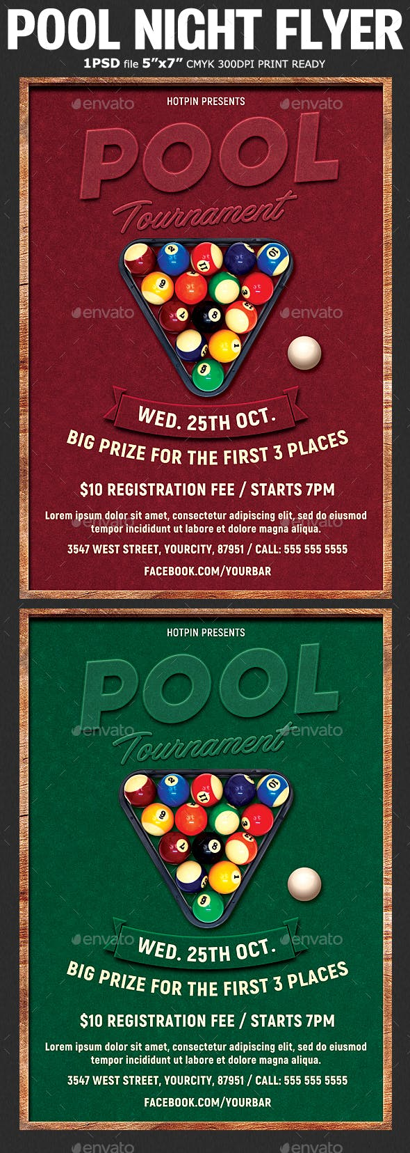 pool tournament flyer template by hotpin graphicriver