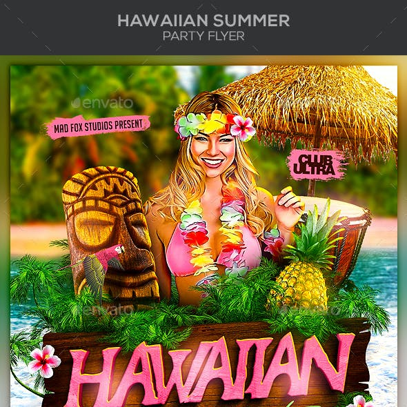 hawaiian graphics designs templates from graphicriver