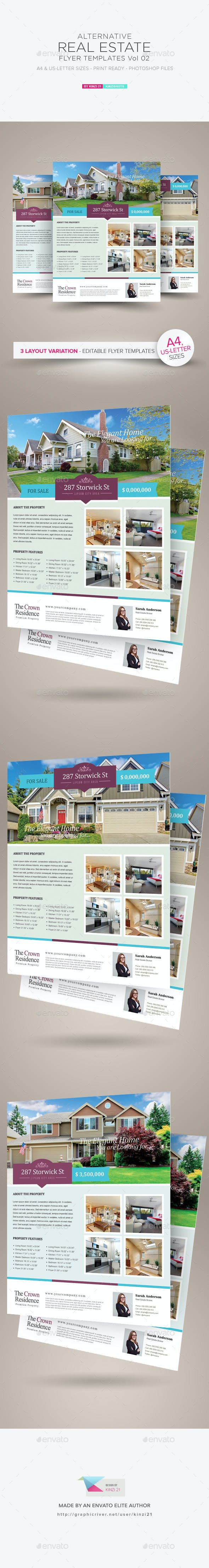 real estate flyer template vol 02 by kinzishots graphicriver