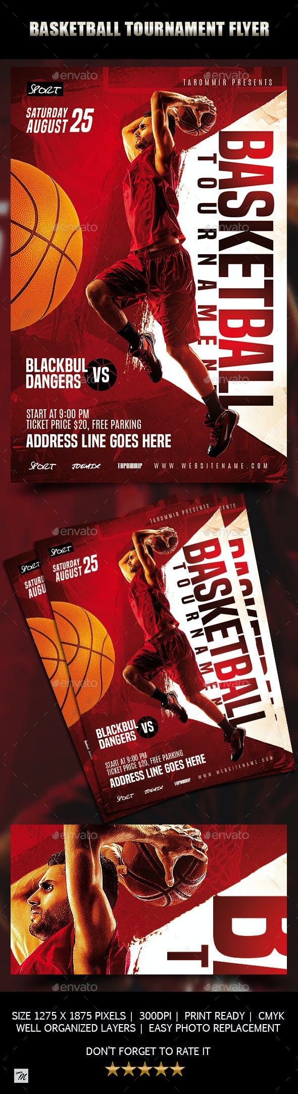 basketball tournament flyer by tarommir graphicriver