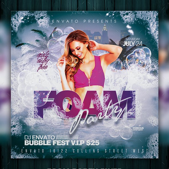 foam party flyer graphics designs templates from graphicriver
