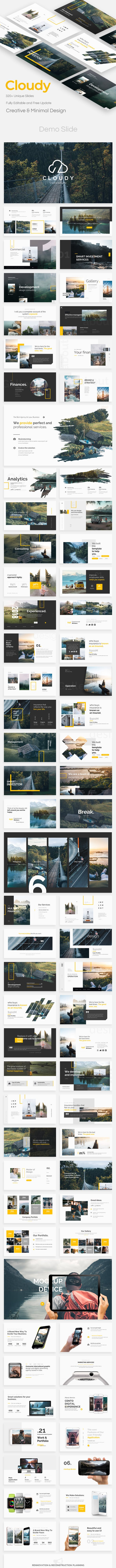 cloudy premium powerpoint template by bypaintdesign graphicriver