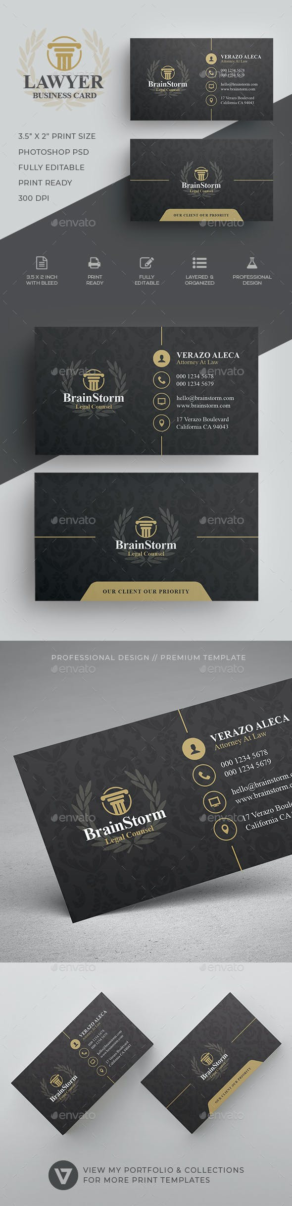 Lawyer Business Card By Verazo Graphicriver