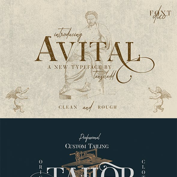 Greeting card fonts from graphicriver page 8 avital font duo m4hsunfo