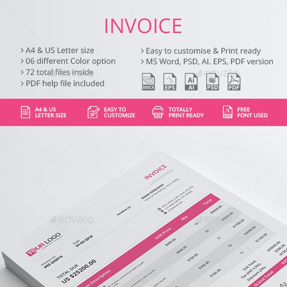 PSD Invoice Graphics, Designs & Templates from GraphicRiver
