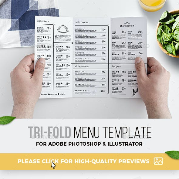 Template And Trifold Menu Templates From Graphicriver