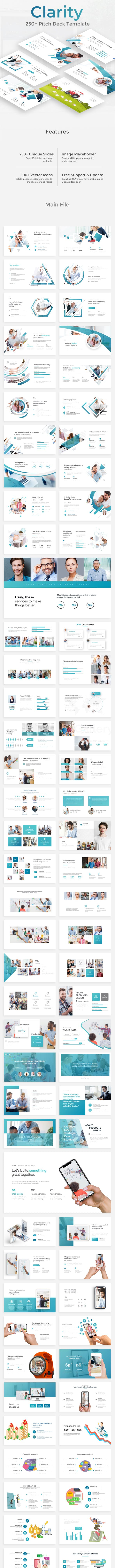 clarity pitch deck google slide template by zinstudio graphicriver