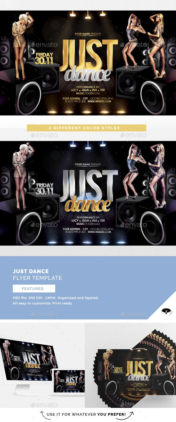 just dance flyer template by touringxx graphicriver