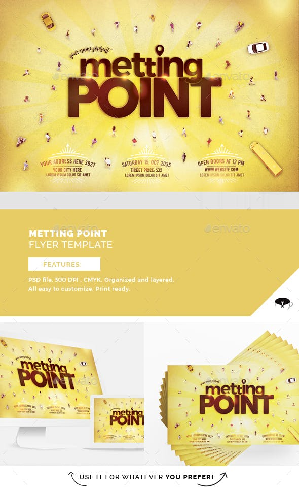 Meeting Point Flyer Template Flyers Print Templates