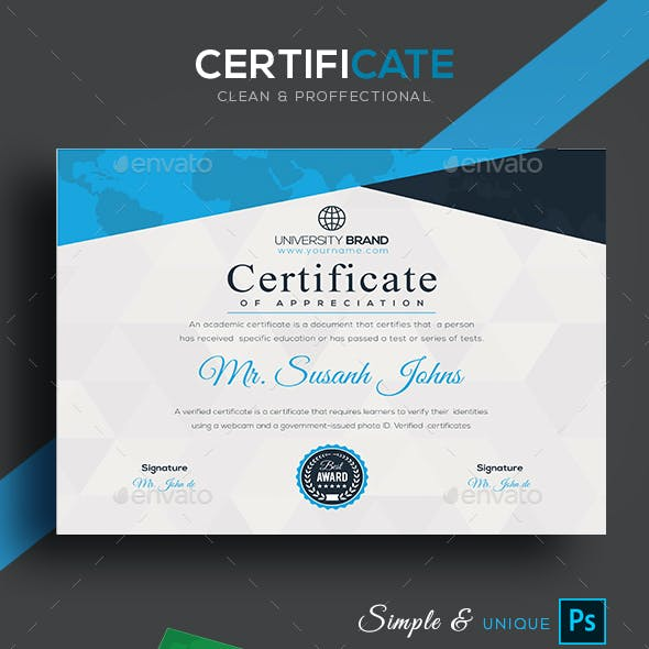 Color And Corporate Certificate Templates Designs