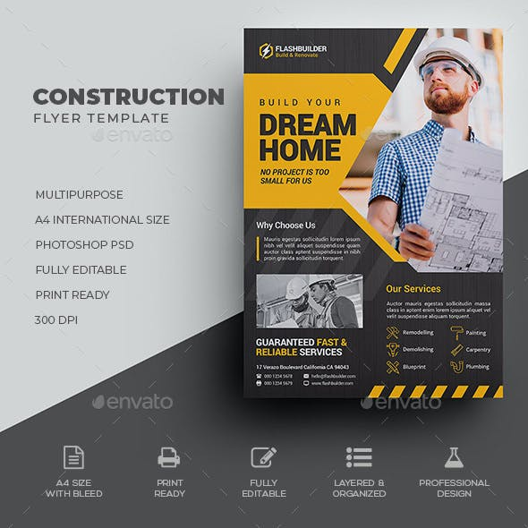 construction flyer graphics designs templates