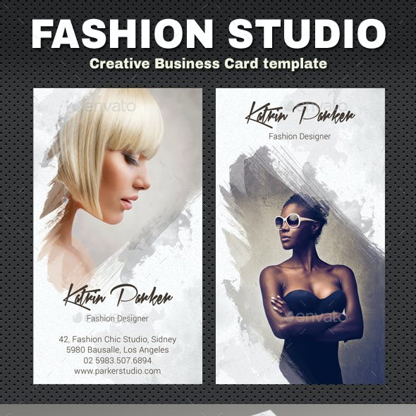 Creative business card templates designs from graphicriver fashion studio business card reheart Choice Image