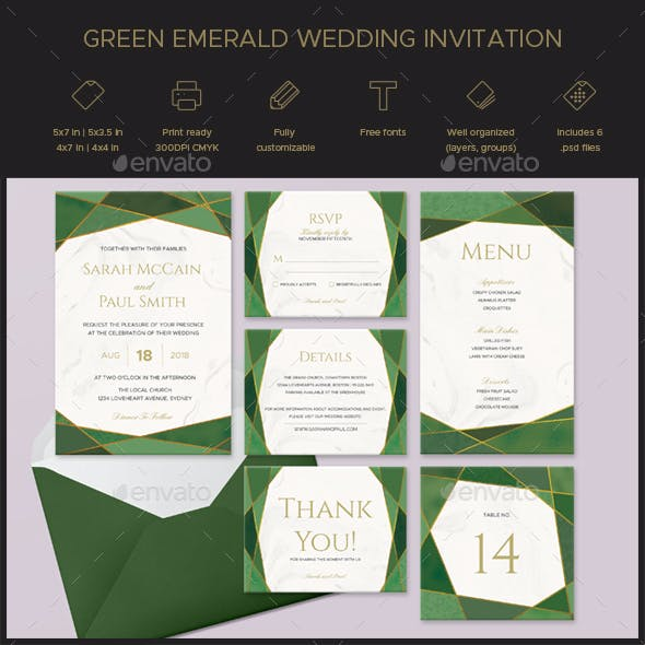 Marble Wedding Invitation Templates From GraphicRiver
