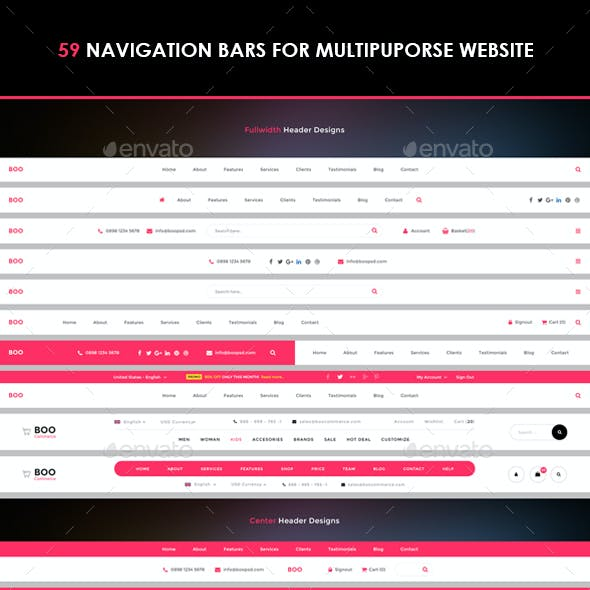 59 Navigation Menu Bars