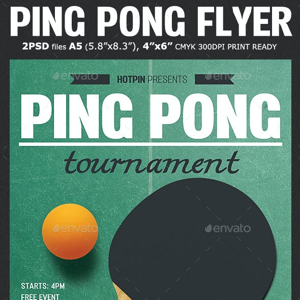 the gallery for table tennis poster template.html