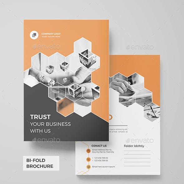 bi fold brochure graphics designs templates from graphicriver