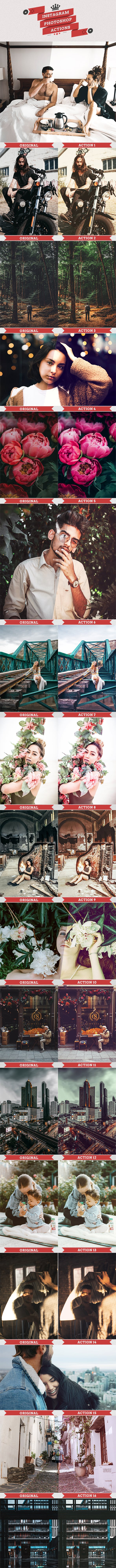 25 Instagram Filters Photoshop Actions - Photo Effects Actions