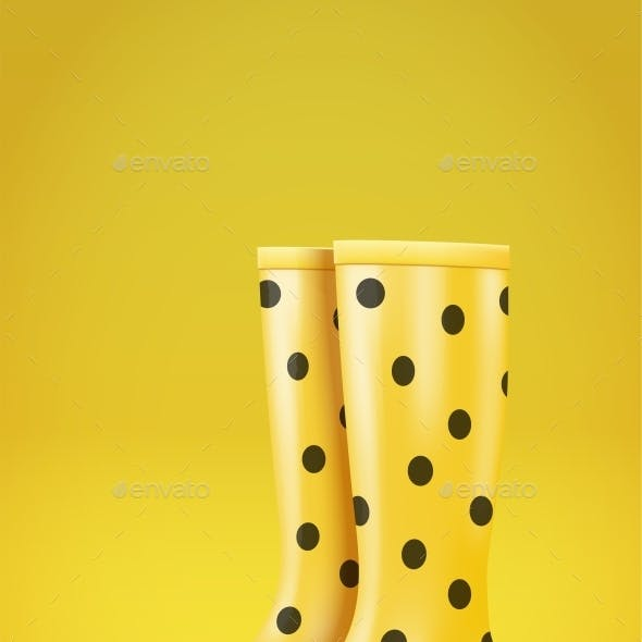 Rain Boots Graphics Designs Templates From Graphicriver