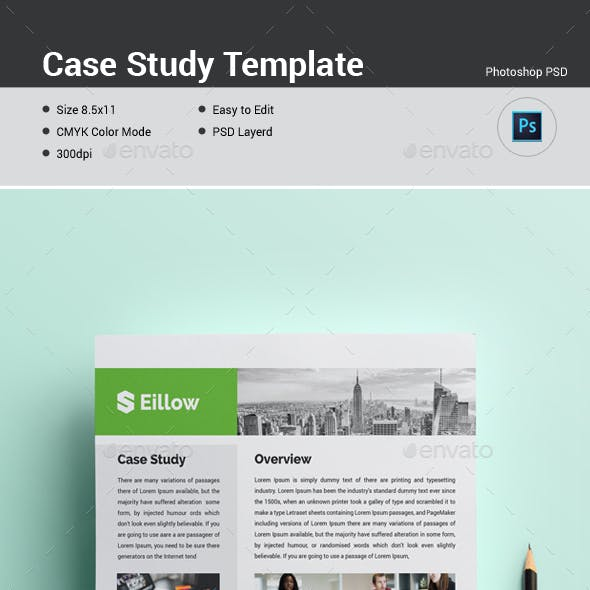 Study Template | Case Study Graphics Designs Templates From Graphicriver