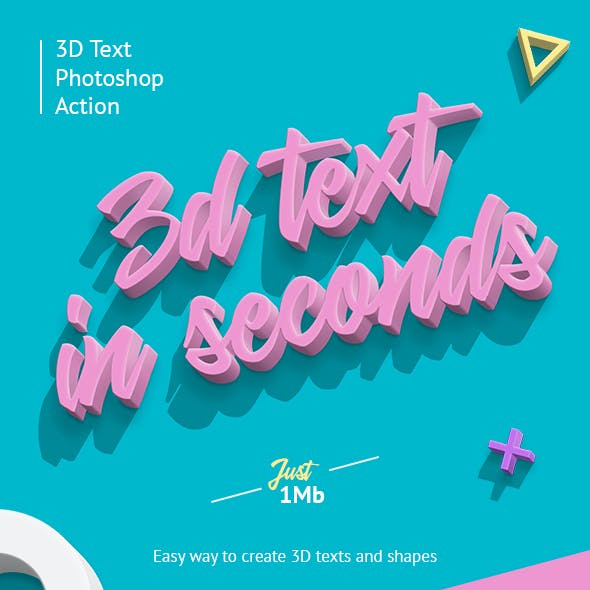 3D Photoshop Action by Sko4 | GraphicRiver