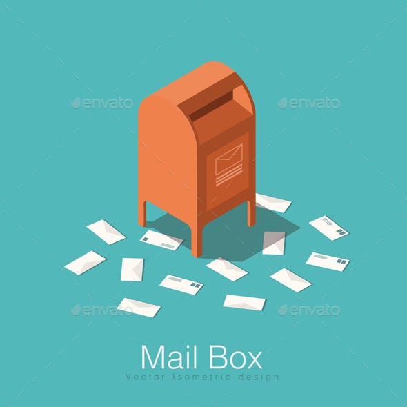 Letterbox graphics designs templates from graphicriver isometric mail box illustration spiritdancerdesigns Choice Image