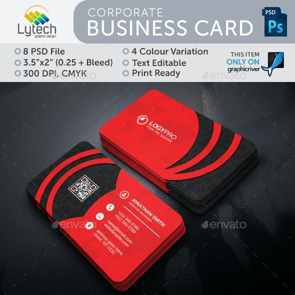 Business card templates designs from graphicriver corporate business card reheart Gallery