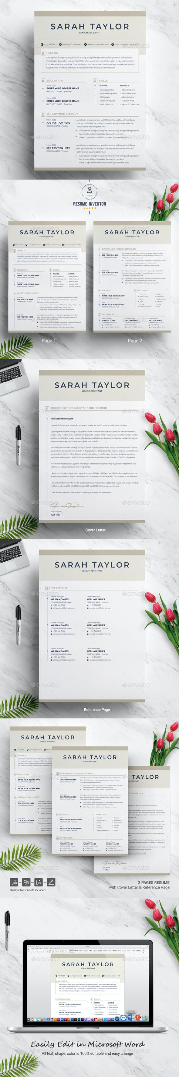 3 page resume resume template page cv template by resumeinventor