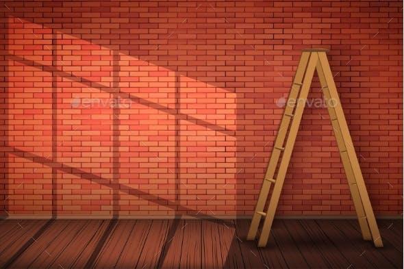 Red Brick Wall Texture Closeup Backgrounds Decorative