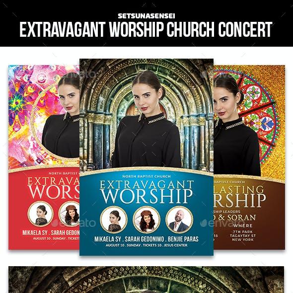 Extravagant Worship Church Concert Flyer