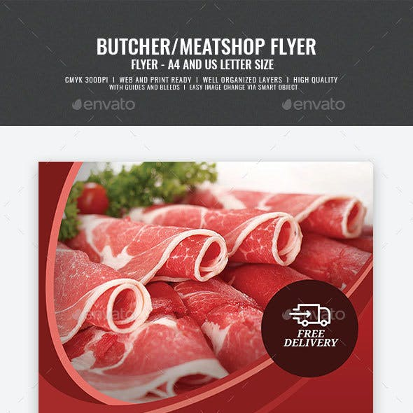 Butcher Flyer Graphics Designs Templates From GraphicRiver