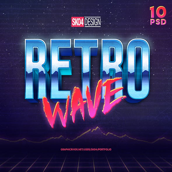 80s Retro Text Effects vol.1