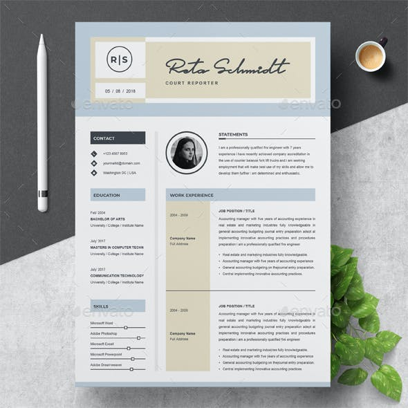 Resume Template Word Graphics Designs Templates