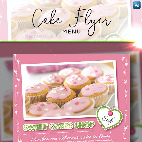 Cake flyer graphics designs templates from graphicriver cake flyer magazine ad maxwellsz