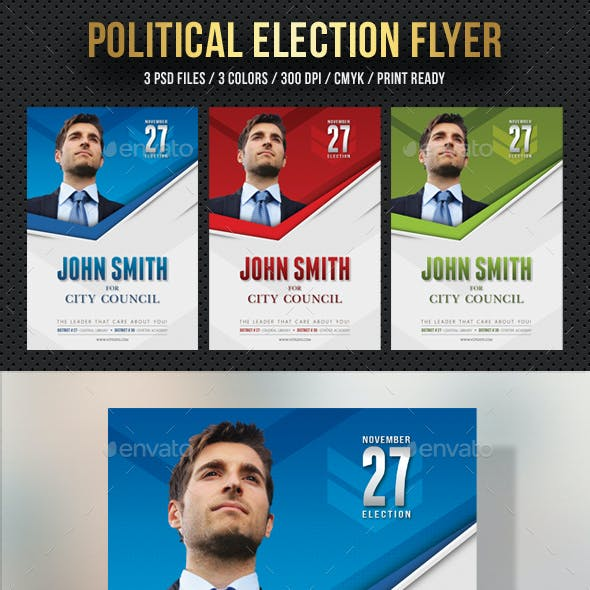 political election flyer template v2