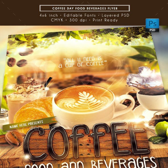 Coffee Random Flyer Templates from GraphicRiver