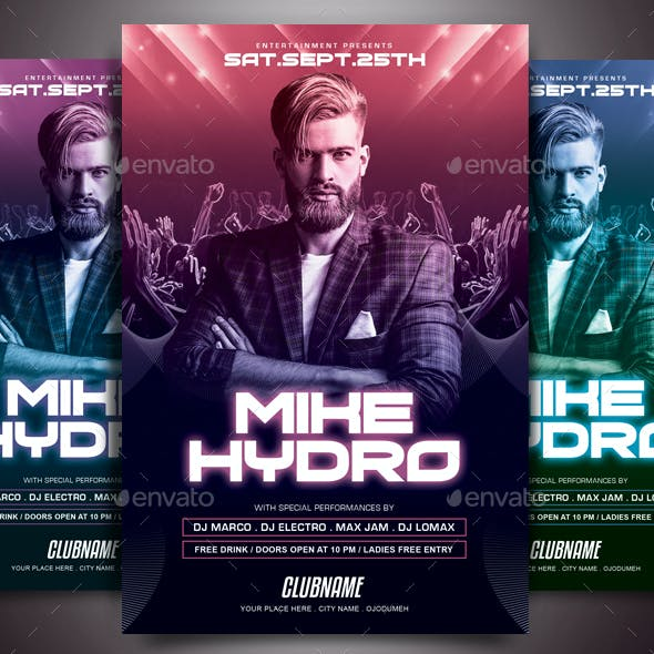 concert flyer templates from graphicriver