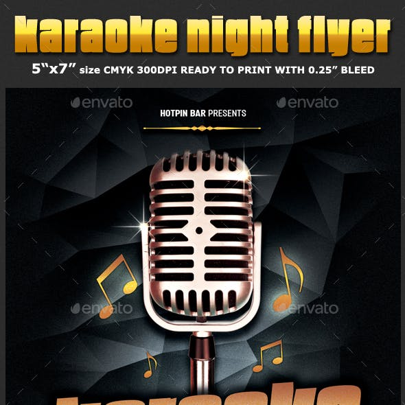 karaoke flyer graphics designs templates from graphicriver