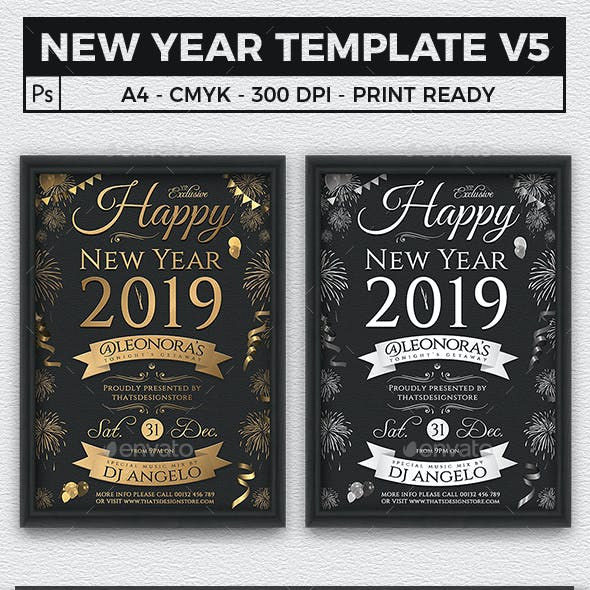 new year flyer template v5