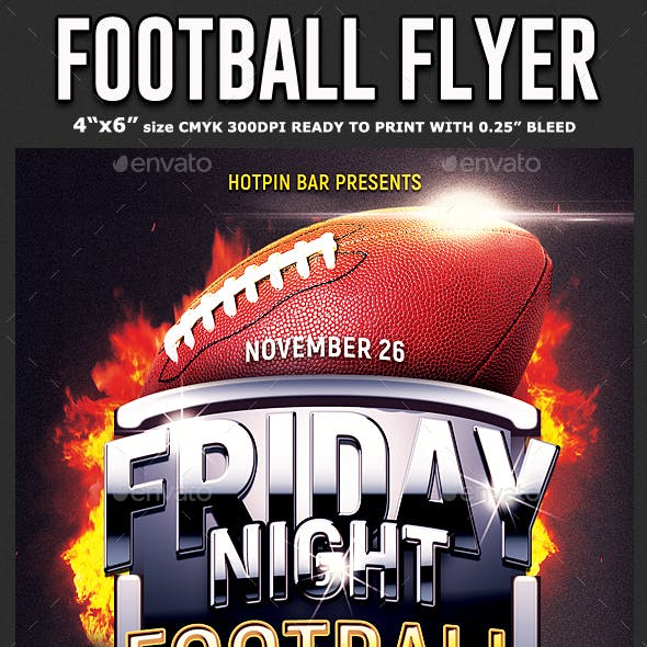football flyer template graphics designs templates