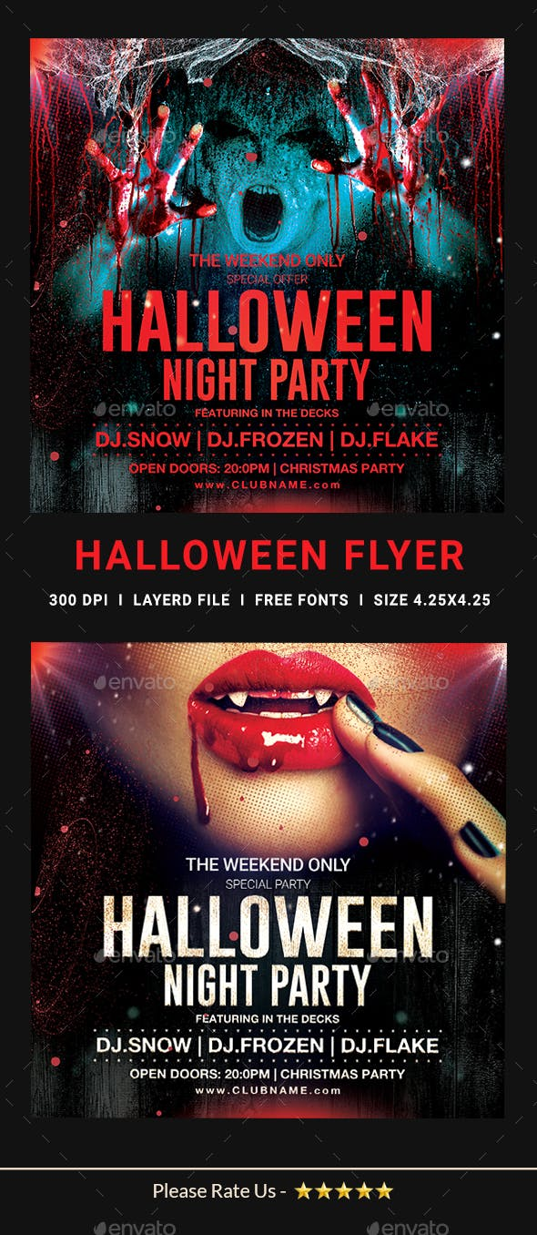 halloween party flyer template by dhingra graphicriver