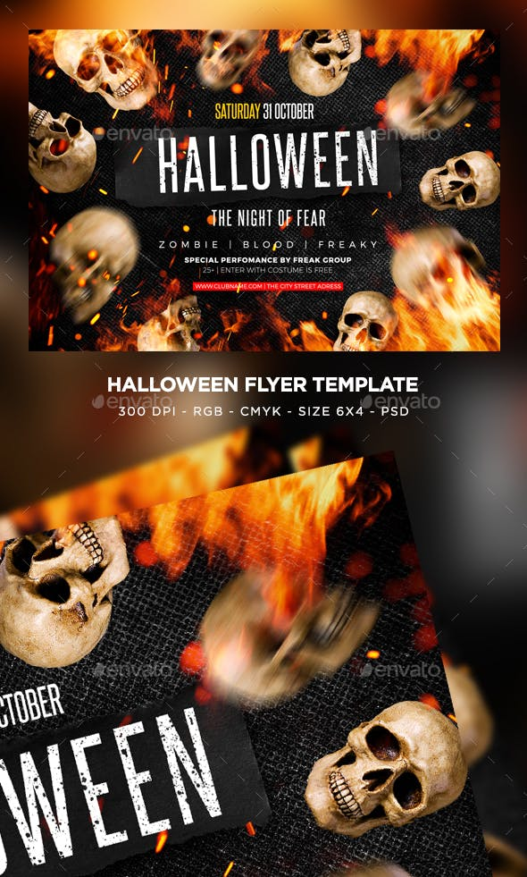 halloween flyer by maksn graphicriver