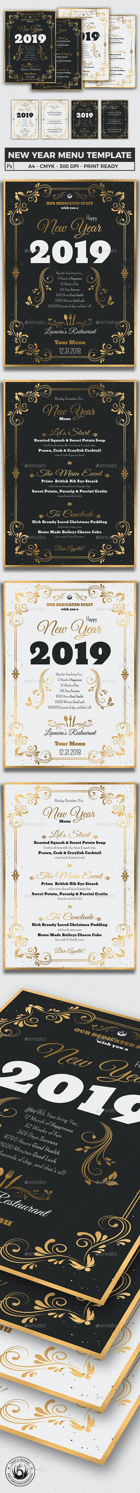 new year menu template v1 holidays events