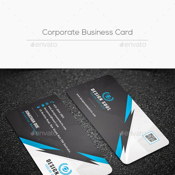 Corporate business card templates designs from graphicriver corporate business card cheaphphosting Gallery