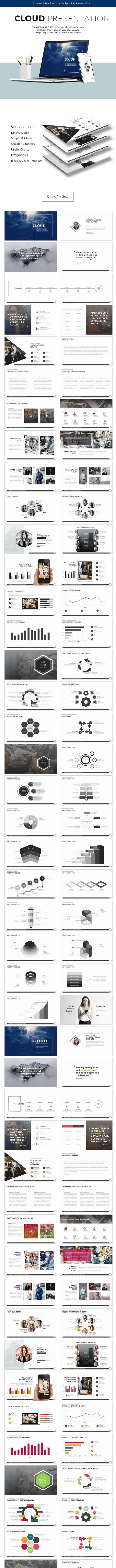 cloud google slide presentation template by slidoaspire graphicriver