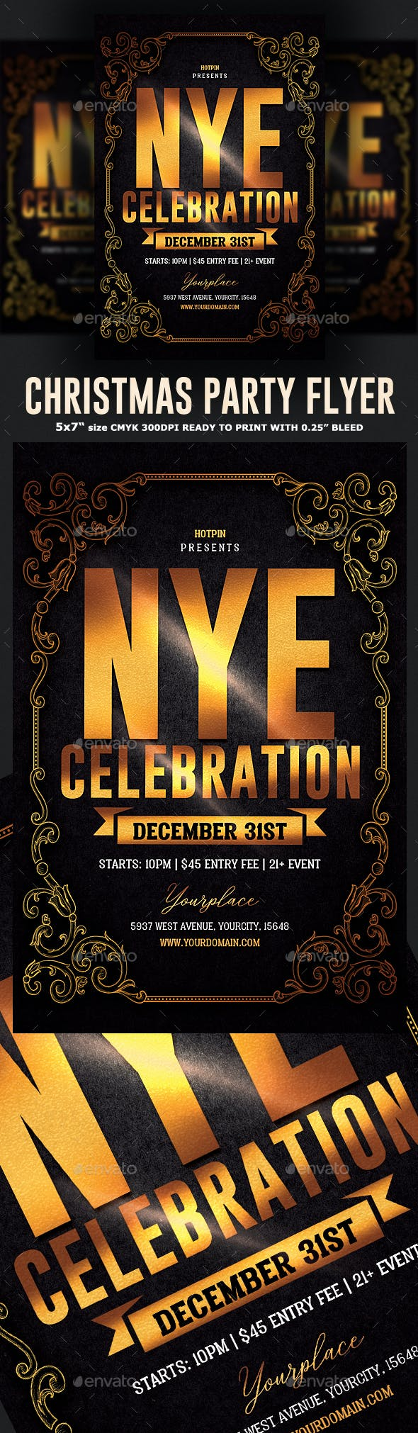 nye flyer template by hotpin graphicriver
